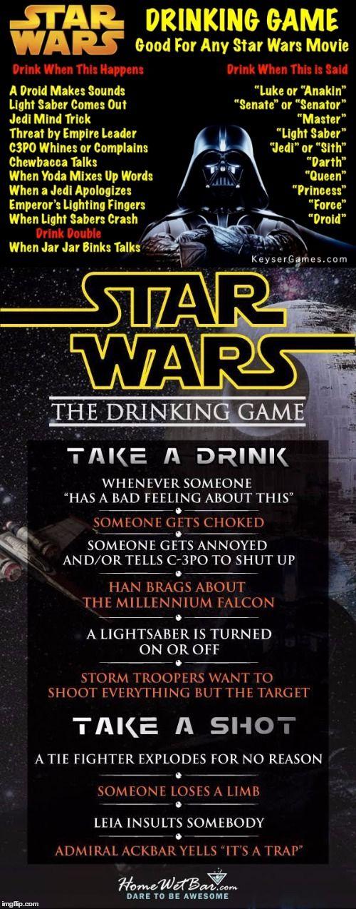 Star Wars Trinkspiel : star wars drinking game getr nke pinterest trinkspiel partyspiele und spiele ~ Orissabook.com Haus und Dekorationen