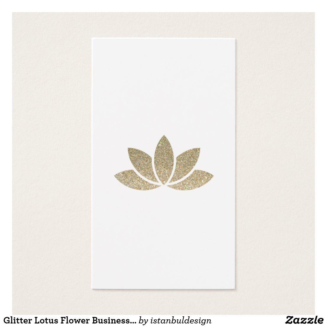 Glitter Lotus Flower Business Card | Business cards