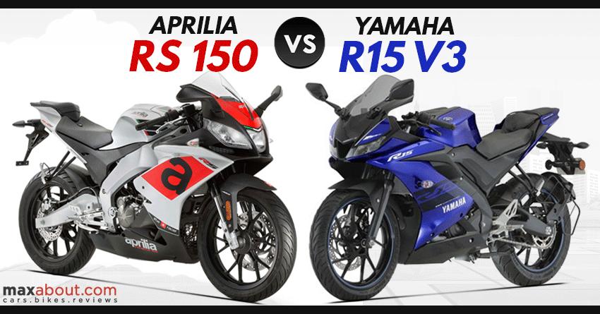 Aprilia Rs 150 Vs Yamaha R15 V3 Detailed Comparison Aprilia