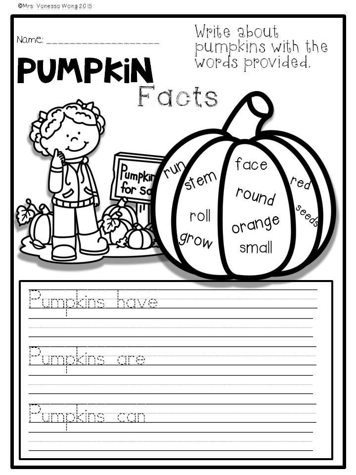 Fall Activities for Math and Literacy No Prep Printables ...