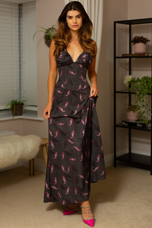 Full steel boned corset maxi dress in 2020 maxi dress