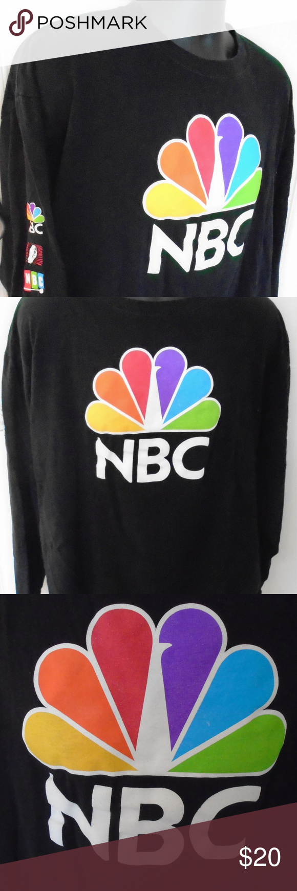 NBC Network TShirt Television Peacock Logo XL Peacock