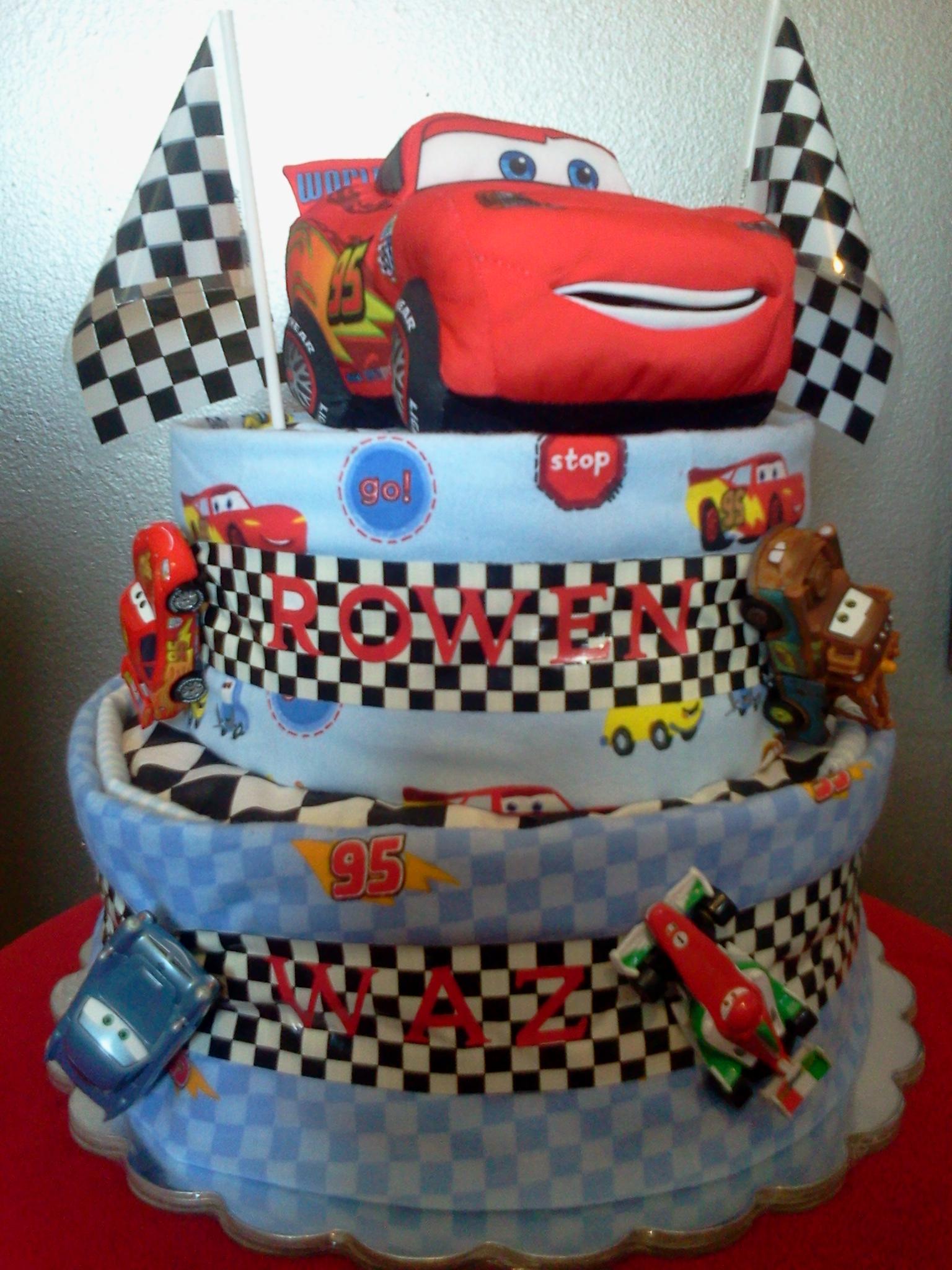 Disney Cars Diaper Cake Diaper Cakes Amp Wipe Cases