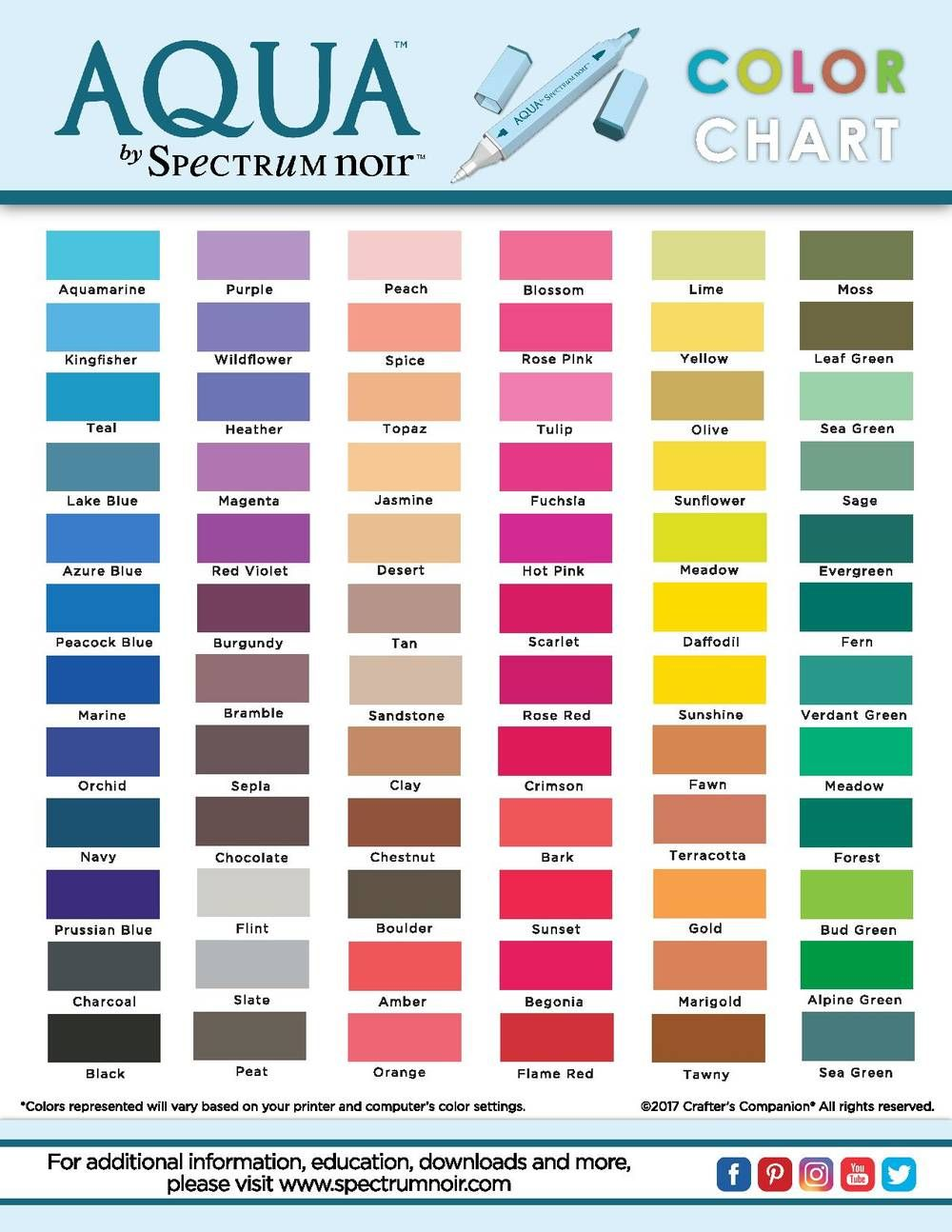 photograph about Printable Color Chart called Totally free Printable Spectrum Noir Shade Charts Elements in direction of recognize