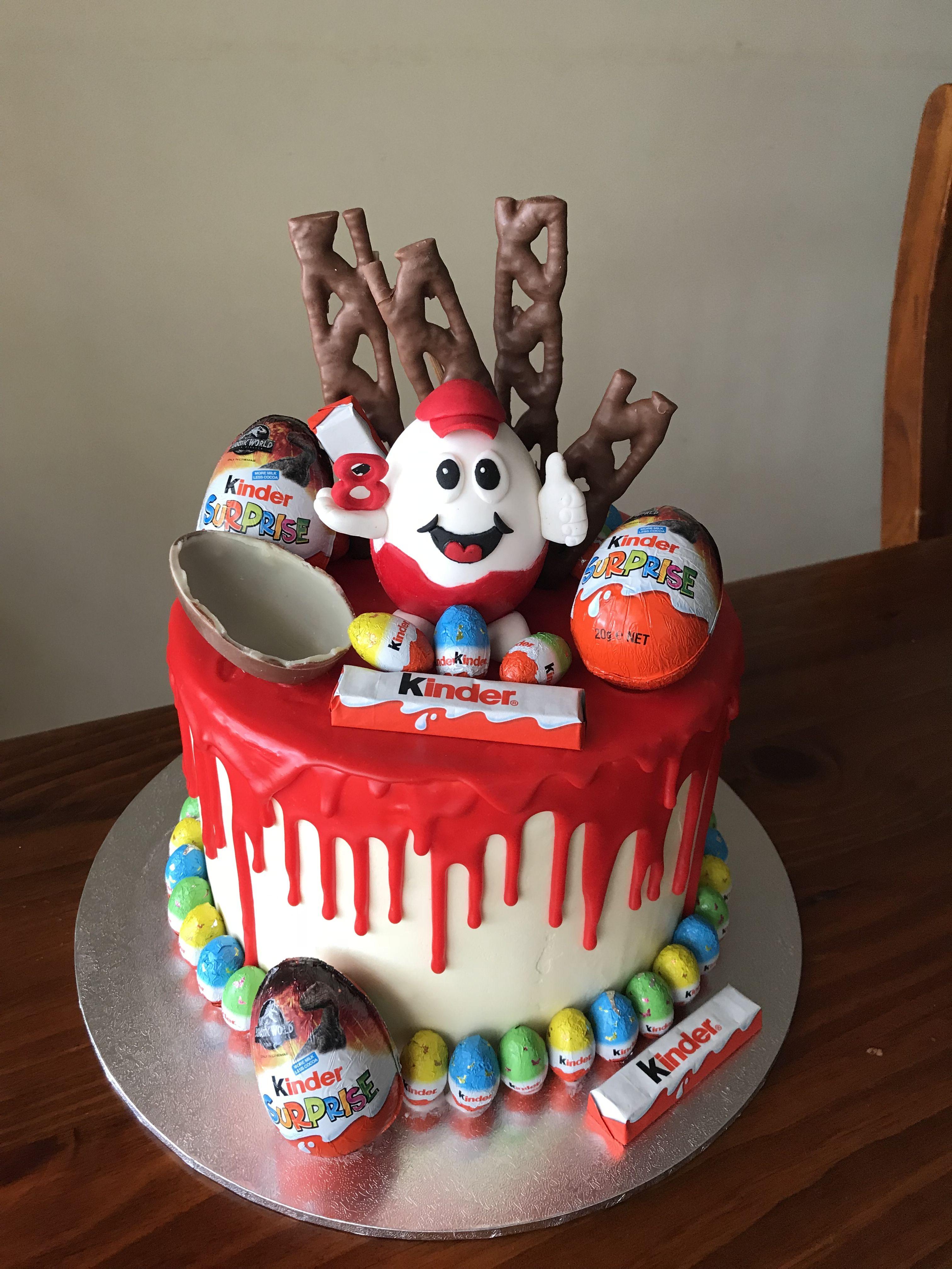 Kinder Surprise Drip Cake Tropfkuchen Geschmolzene Schokolade Kinder Uberraschung
