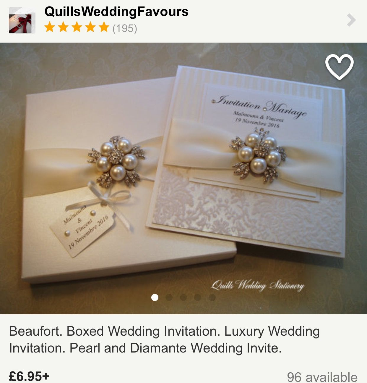 Wedding Invitation Card With Personalised Tag And Box W 2019
