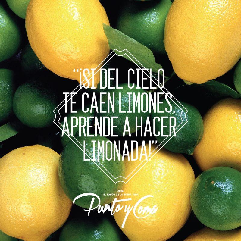 ¡Si del cielo te caen limones, aprende a hacer limonada!