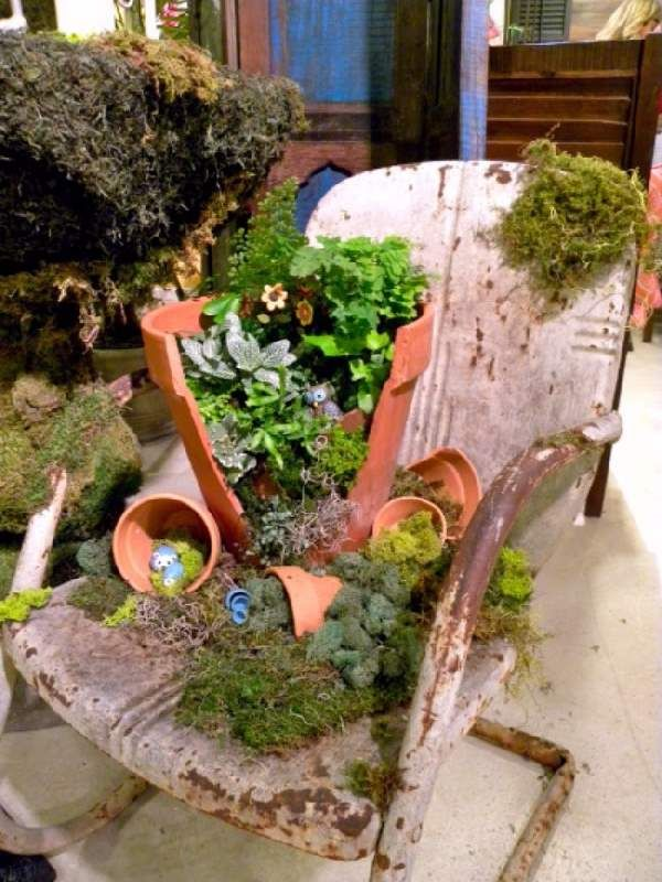 If you have a broken pot here is how to make a fairy garden from if you have a broken pot here is how to make a fairy garden from it workwithnaturefo