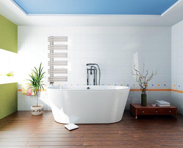 Radiateur sèche-serviettes tubes plats rectangulaires pratiques - puissance seche serviette salle de bain