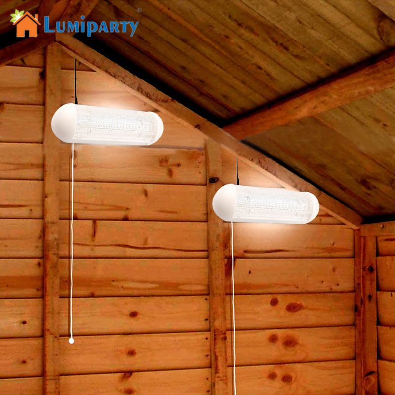 Lumiparty 5 Led Wall Lamp 1 To 2pcs Solar Garden Light Rechargeable With Pull Cord Switch Cool White For Garage Courtya Led Wall Lamp Solar Lights Garden Lamp