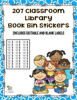 these classroom library book bin basket stickers correspond with my