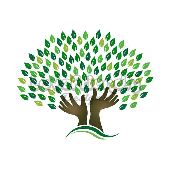 Clipart Hands Tree Concept For Hope Commitment Faith Etsy