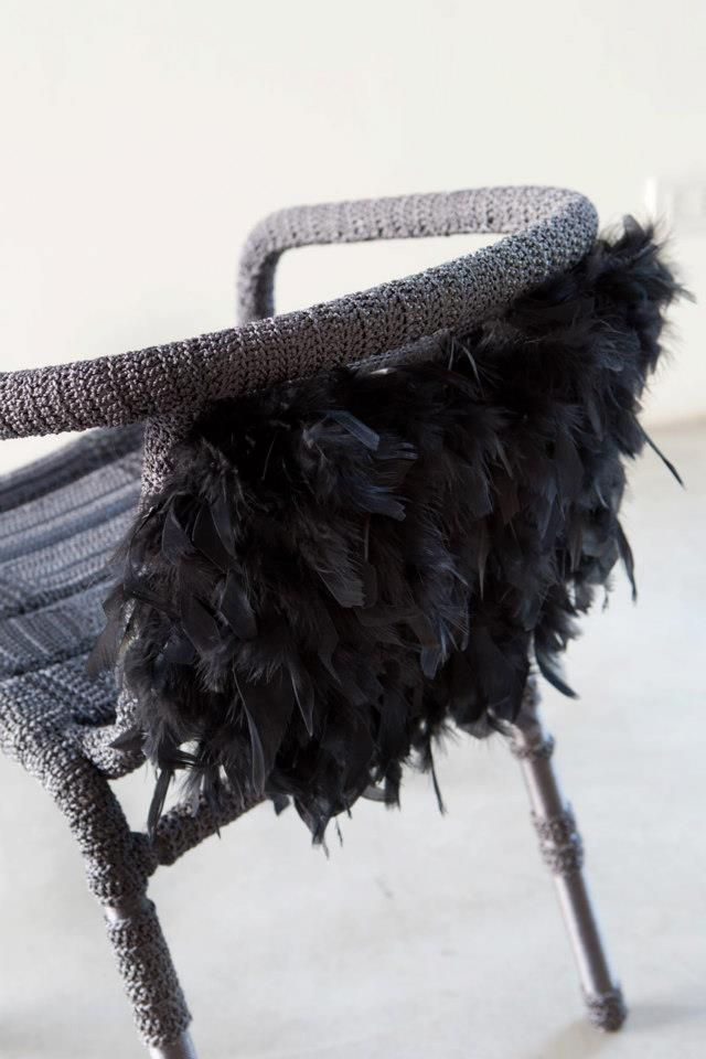 chair with feathers by plusdesign