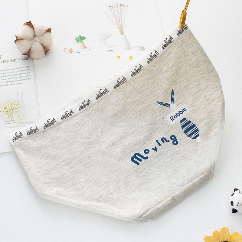589bed2fea0e Cartoon White Rabbit Letter Printed Panties Cotton Cozy Low Waist ...