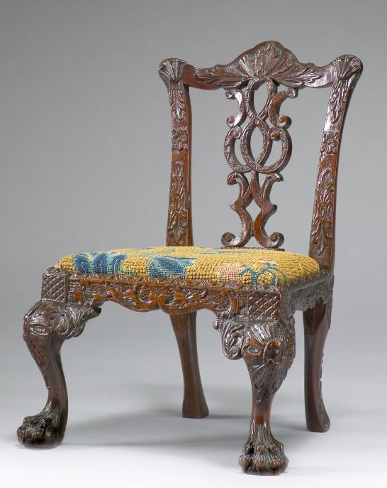 miniature 18th century Chippendale side chair