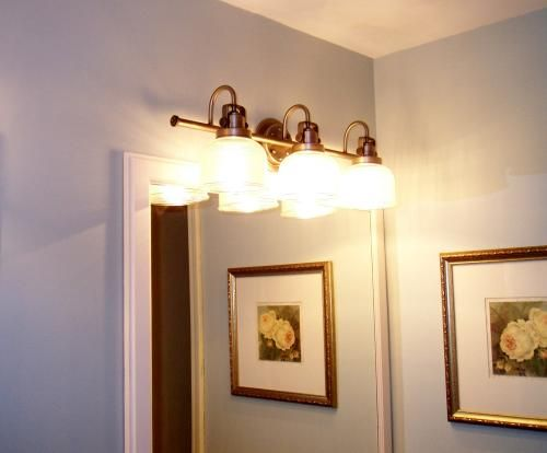 Progress Lighting Archie Colection 3-Light Antique Nickel Bathroom Vanity Light