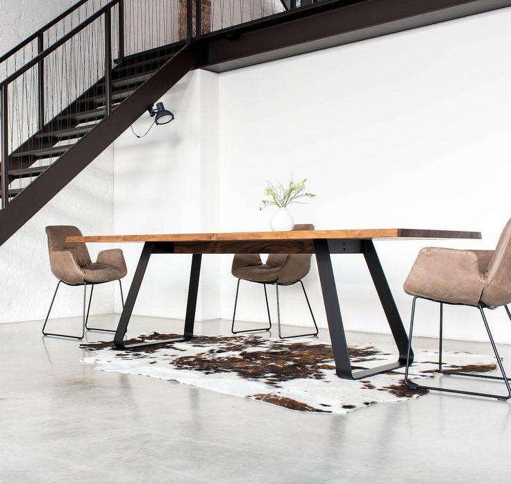 Massivholz Esstisch Design | Brutus Tisch mit Stahluntergestell - #brutus #design #esstisch #massivholz #stahluntergestell #tisch - #HolzfensterJalousien