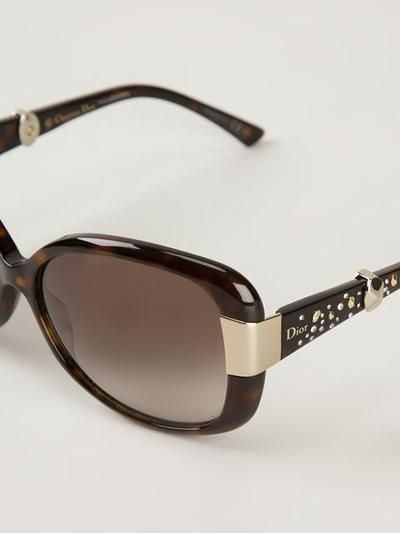 Dior Studded Sunglasses - Profile - Farfetch.com #sunglasses #christiandior #dior #sunny #designer #covetme