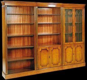 Elements De Bibliotheque De Style Anglais En Bois De Merisier Bibliotheque Mobilier Bois