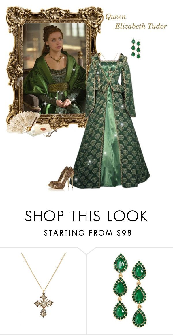 """Reign - Queen Elizabeth Tudor"" by greerflower ❤ liked on Polyvore featuring Renee Lewis, Loren Hope and Iron Fist"