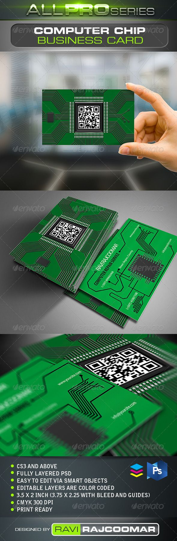 Circuit Board Business Card | Business cards, Business and Fonts
