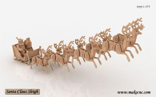 Santas Sleigh Supermodel Santa Sleigh Christmas Ornament Pattern 3d Puzzle Model