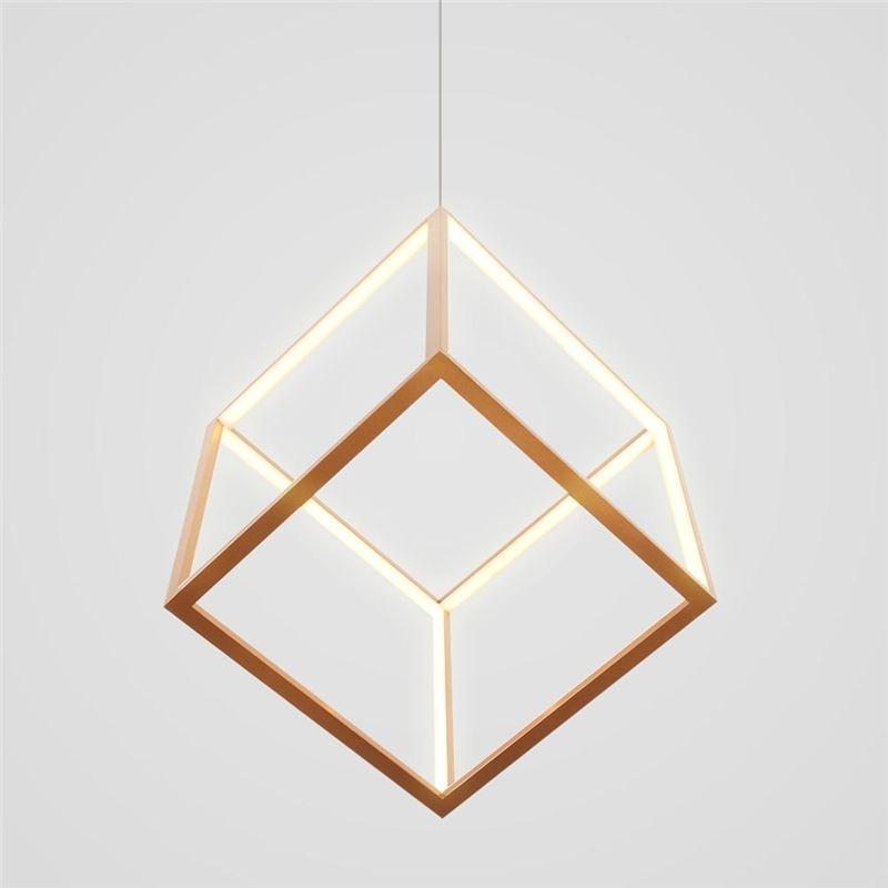 Postmodern Led Pendant Light Geometric Gold Hanging Light Lby18070 Led Pendant Lights Pendant Light Gold Hanging Lights