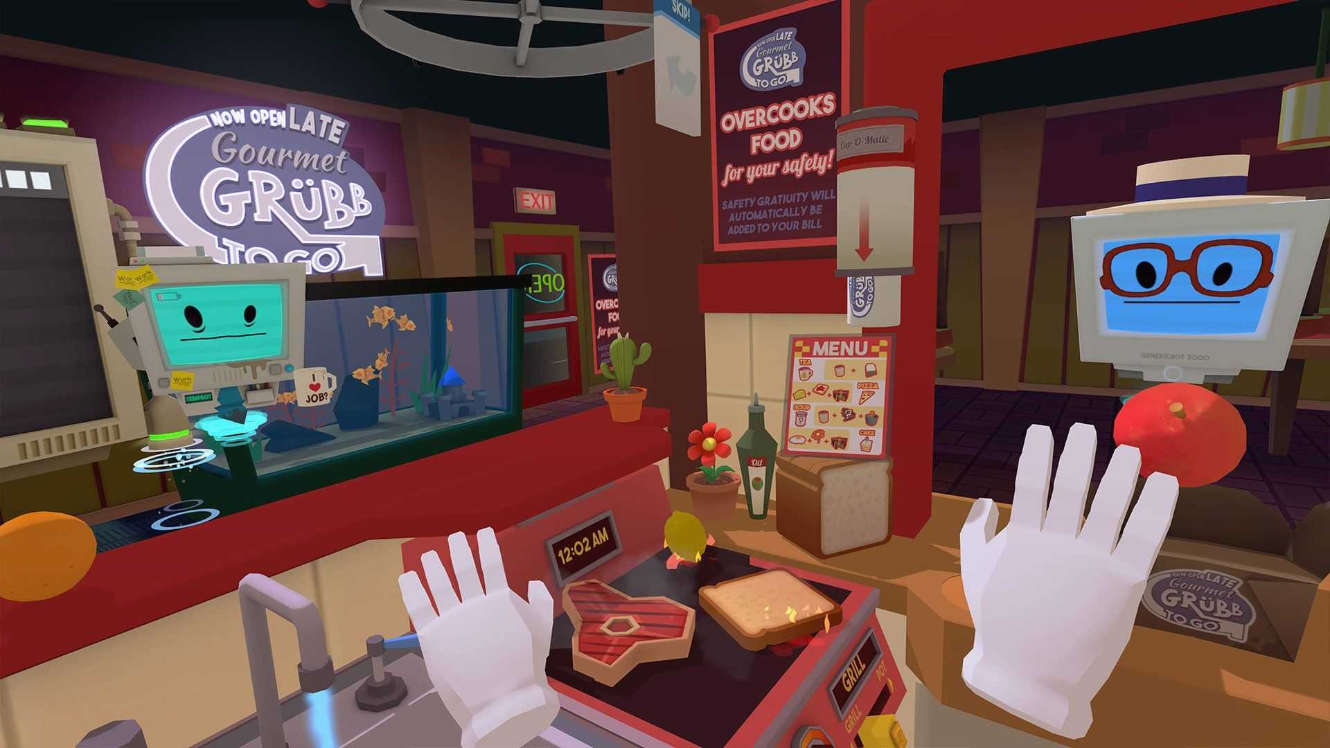 Job Simulator scores a free endless mode Virtual reality