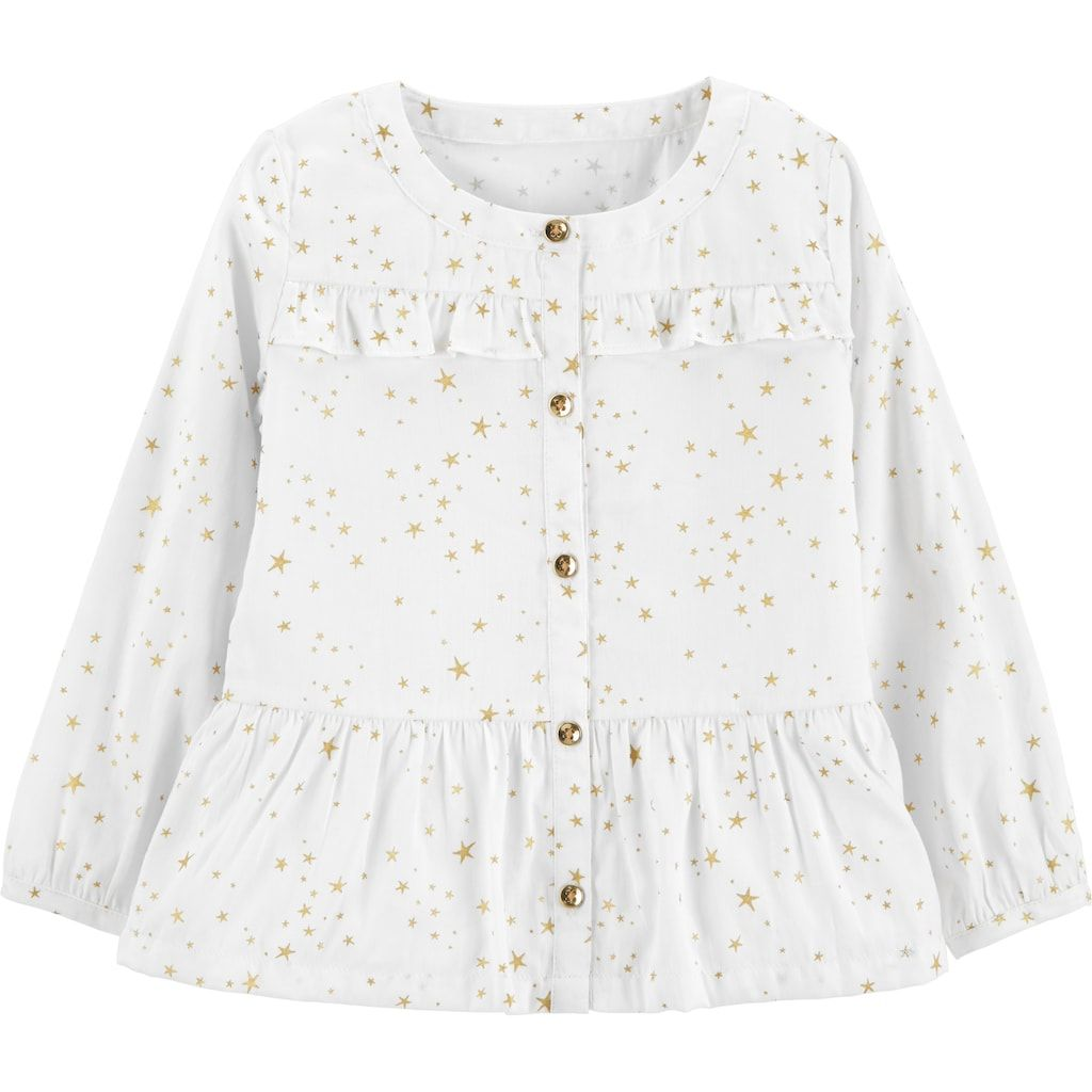 9b0df8b3418d96 Toddler Girl Carter s Star Peplum-Hem Shirt