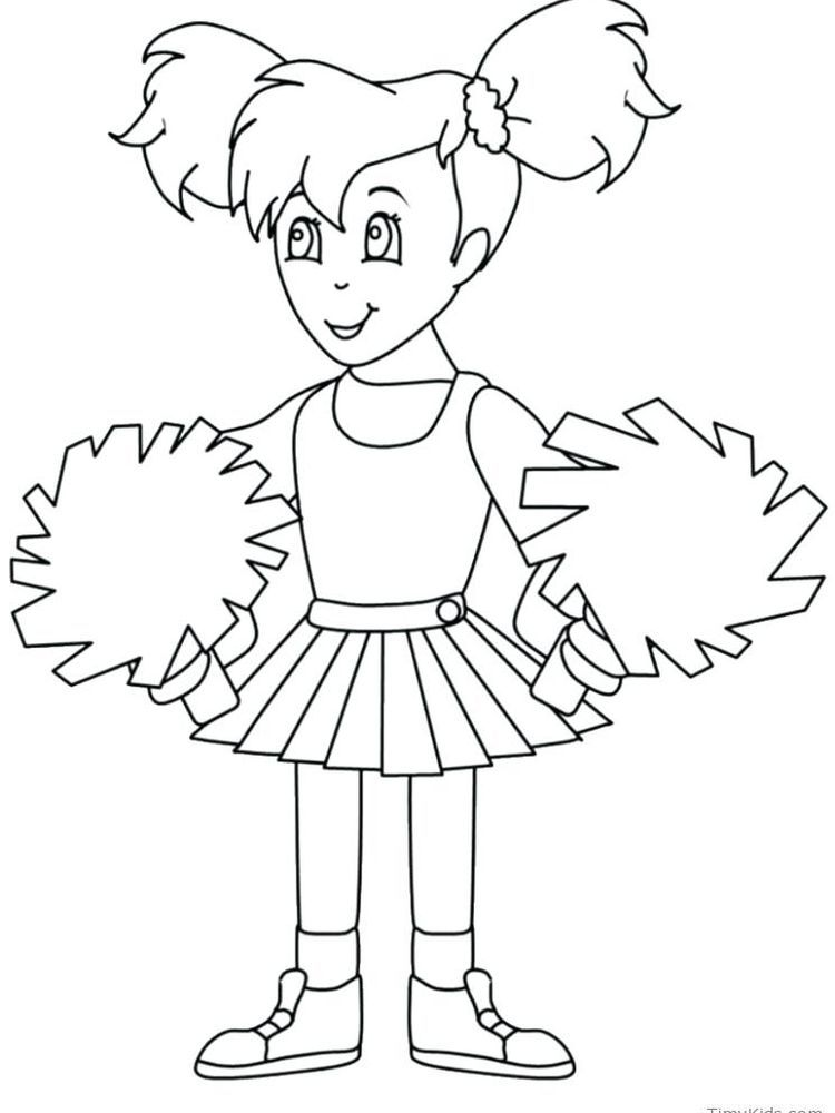 Cheerleader Coloring Pages Megaphones Printable Do You Like Watching Basketball Matches W In 2020 Coloring Pages Inspirational Cool Coloring Pages Printable Coloring