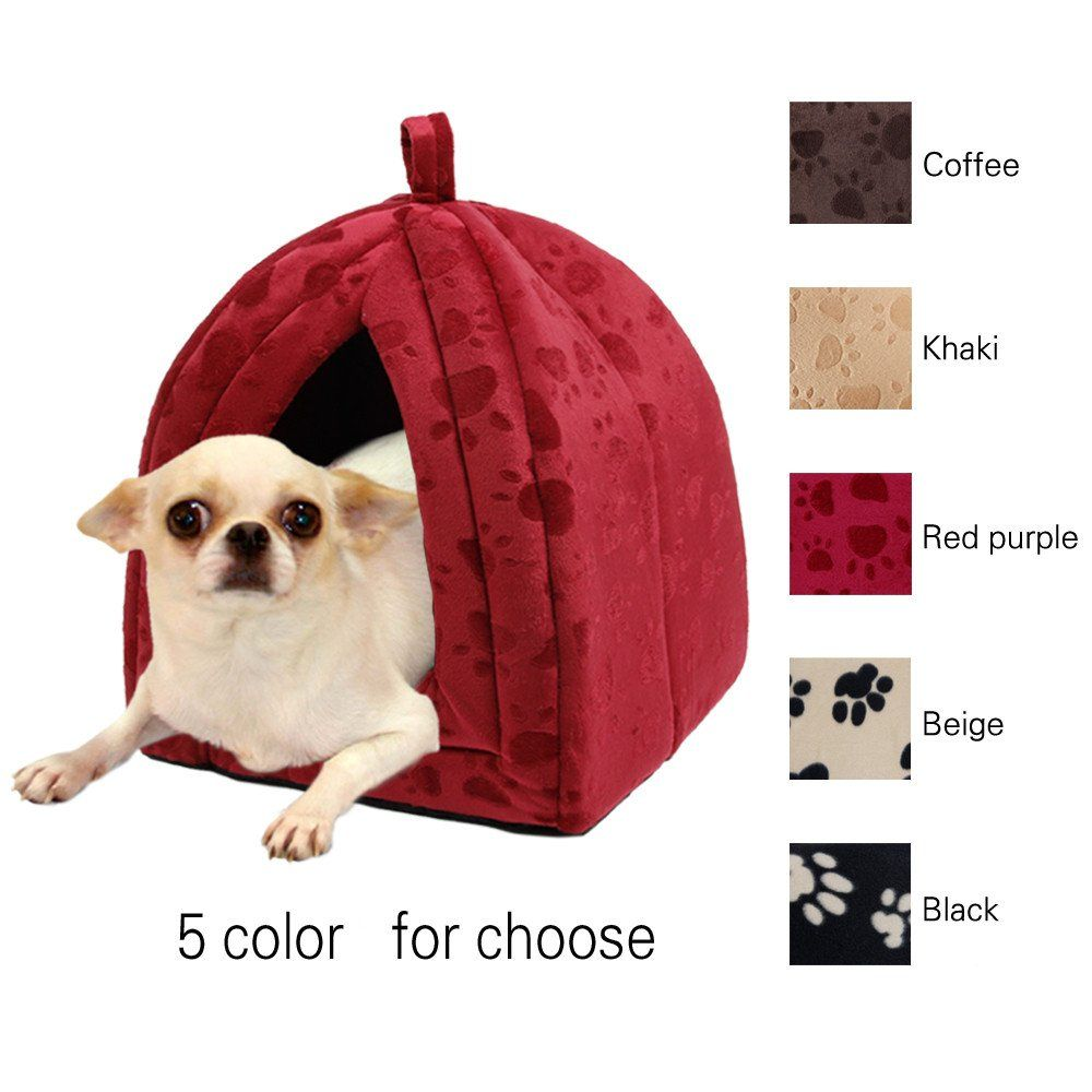 Pawz Road Pet Kennel Super Soft Fabric Dog Bed Princess House Specify For Puppy Dog Cat With Paw Red Check Out The Photo By Going To Th Pet Kennels Puppy