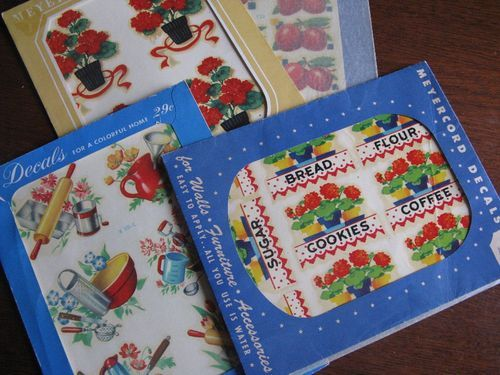 """Remember these from Woolworths. There just wasn't a lot of decorating """"things"""" in those days so this was so fun. Could freshen things up, change a look--so cheerful"""
