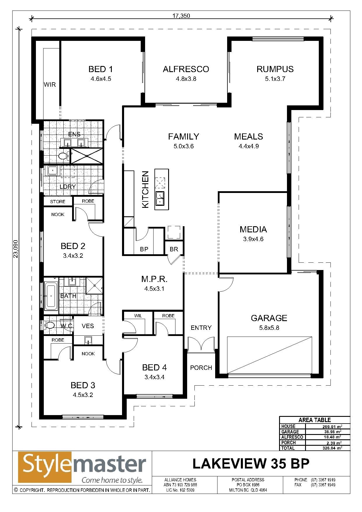 Our Homes View Lakeview 35 Bp Stylemaster Homes Lake View Stylemaster House Blueprints