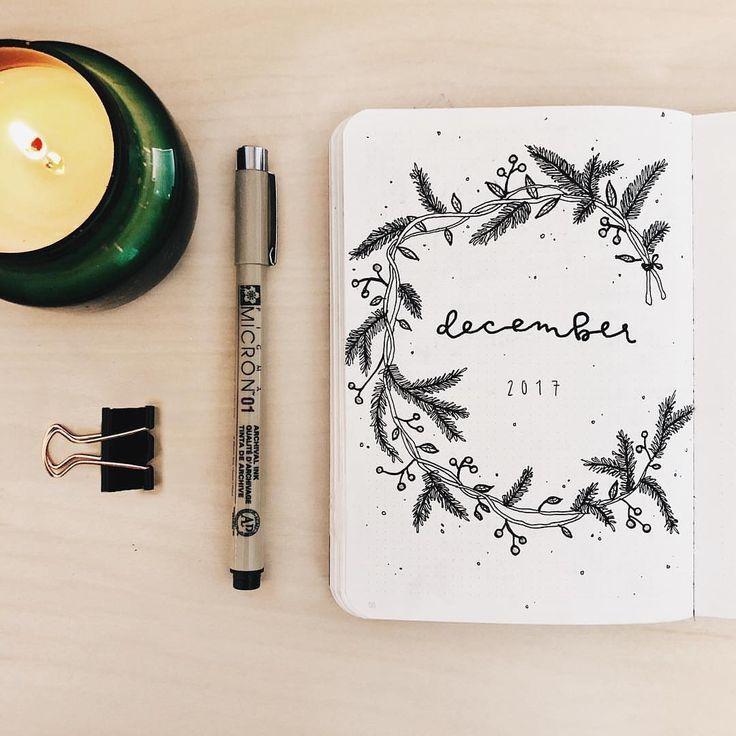49 Stunning December Inspired Bullet Journal Spreads + December Plan with me Video! | My Inner Creative