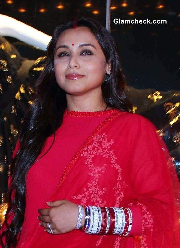 Rani Mukherjee Pictures 2014 After Marriage Indian Bollywood Actress Sangeet Outfit Bollywood