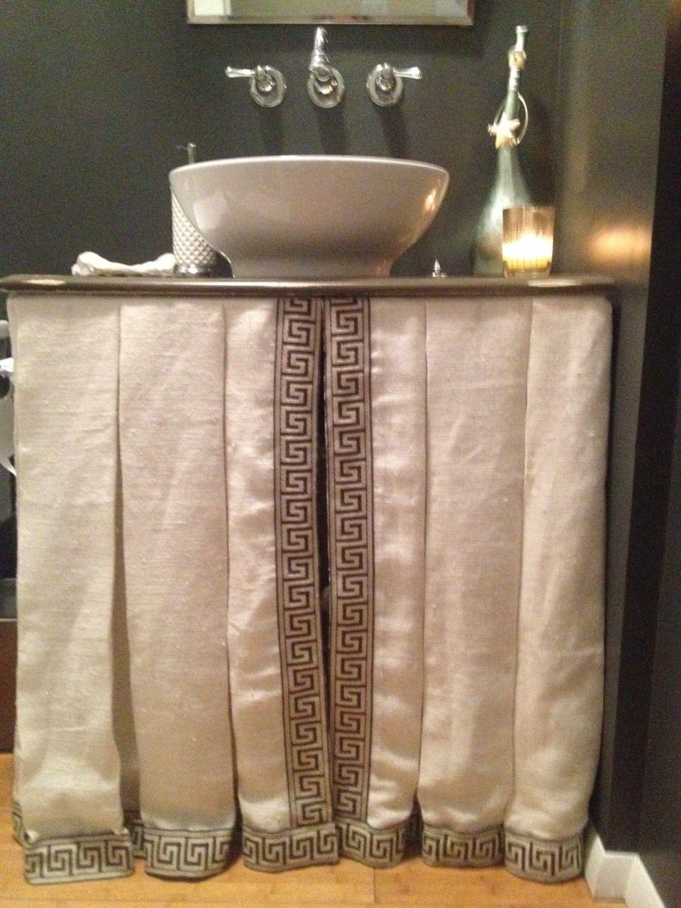 Greek key vanity skirtc custom draperies and bedding greek key vanity skirtc custom draperies and bedding geotapseo Image collections