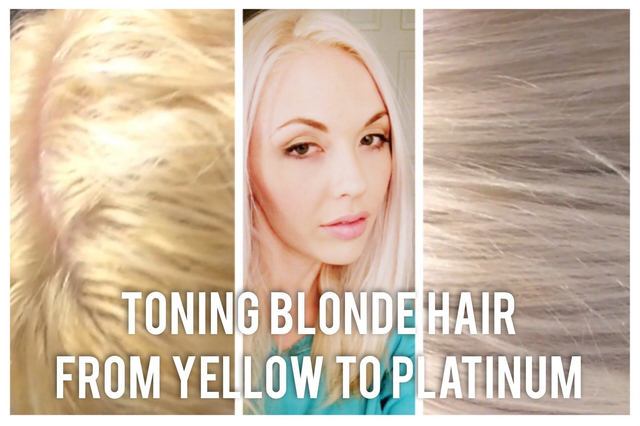 Diy Toning Blonde Hair From Brassy To Platinum At Home Toning Blonde Hair Bleach Blonde Hair Yellow Blonde Hair