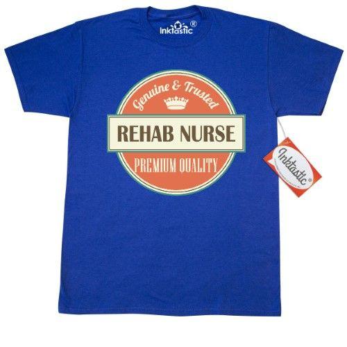 a24173f13 Inktastic Rehab Nurse Funny Gift Idea T-Shirt Retired Occupations Rn Lpn  Premium Quality Vintage Logo Clothing Classic Job Career Mens Adult Apparel  Tees ...