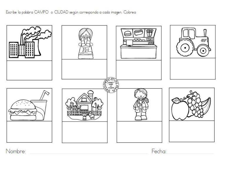 Maravillosos Disenos Y Actividades Para Trabajar El Tema El Campo Y La Ciudad Primeros Grados Actividades Para Primaria Actividades De Lenguaje Preescolares