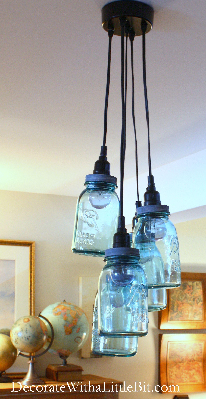 DIY Mason Jar Chandelier, HometoCottage.com | Pinterest | Jar ...