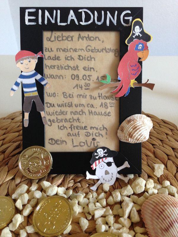 einladung-piraten-bilderrahmen   Kindergeburtstag-Partyideen   Pinterest