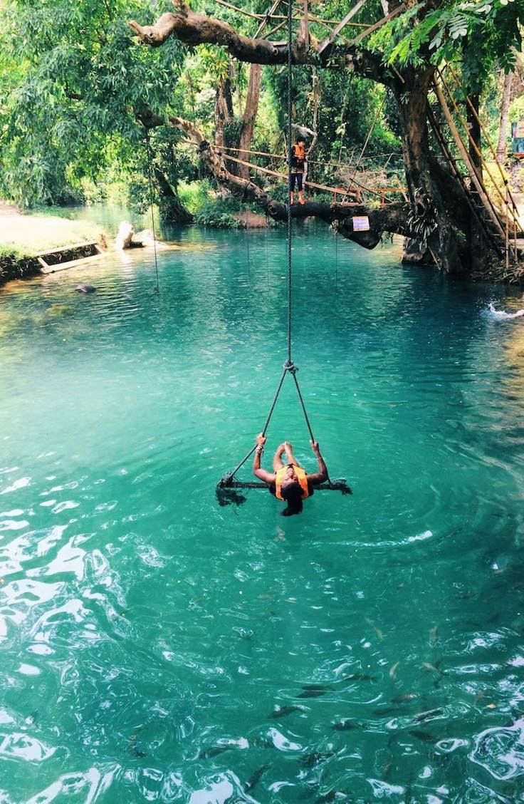 Complete Guide To The Blue Lagoon Vang Vieng Laos Laos Laos Travel Blue Lagoon