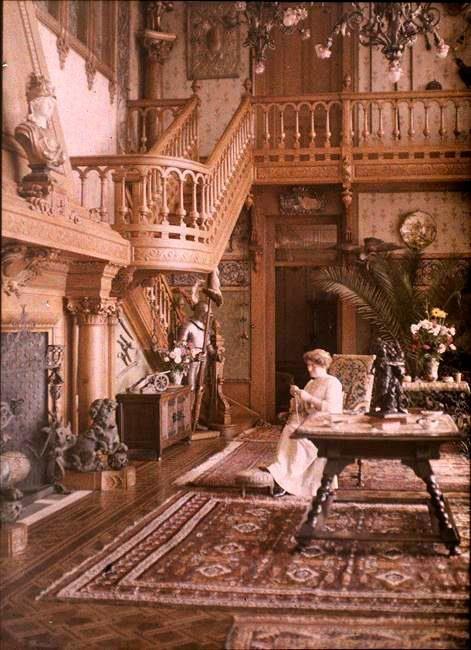 Vevey, Villa Claire, l'intérieur de la Villa, 1910