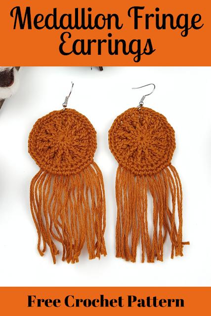 Medallion Fringe Earrings - FREE PATTERN