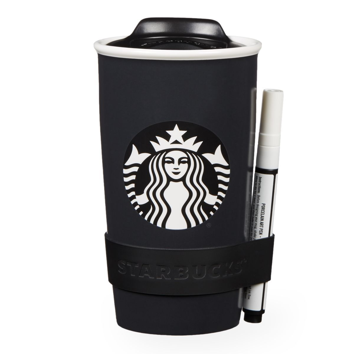 Starbucks Travel Coffee Maker : A double-walled ceramic travel mug you can write on with the included chalk pen. starbucks ...