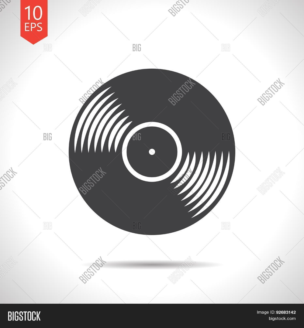 Vector Vinyl Record Vector Photo Free Trial Bigstock Vinyl Records Retro Vector Single Line Drawing