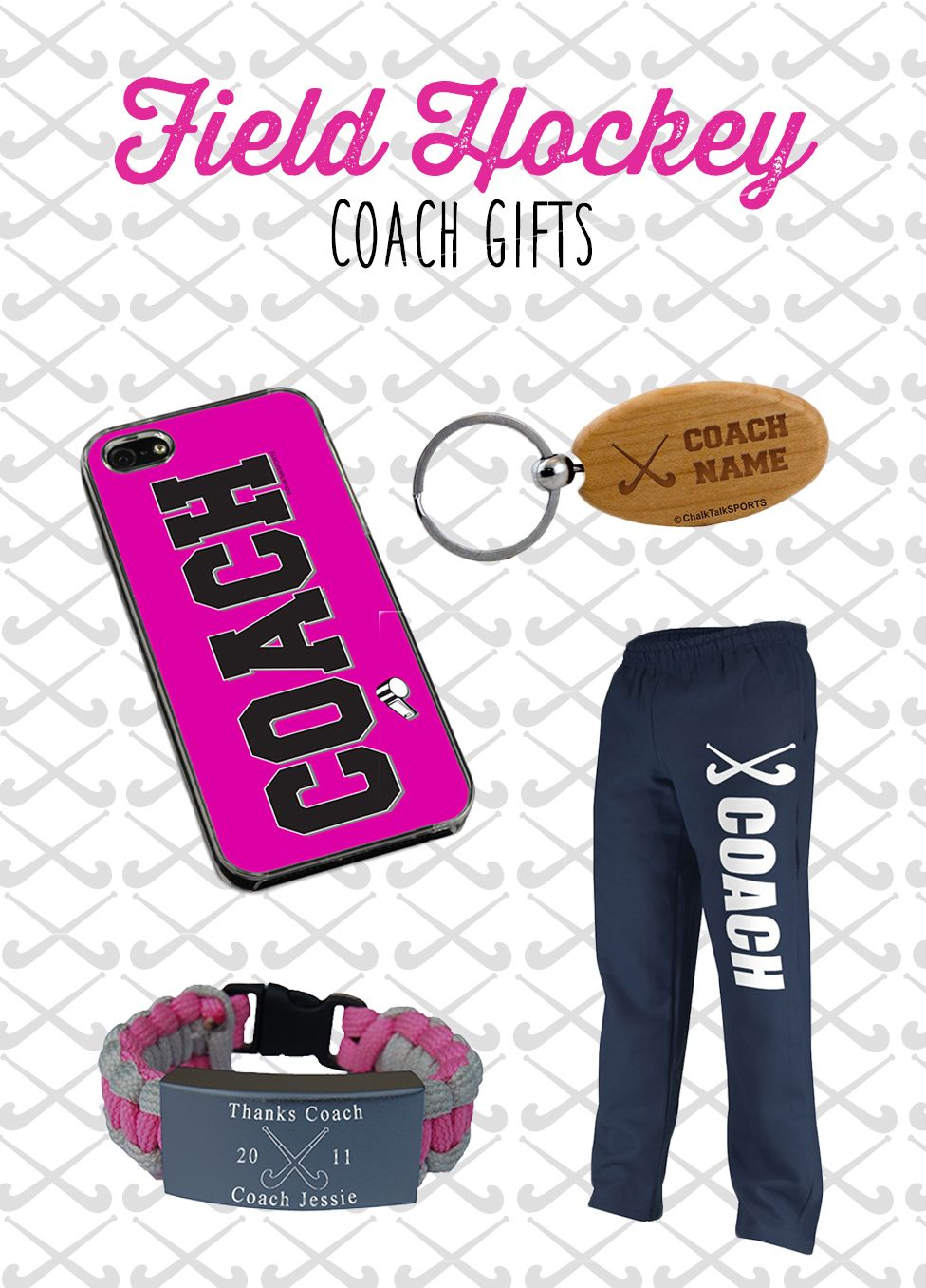 Be Sure To Thank Your Coach For A Fabulous Field Hockey Season With One Of Our Coach Gifts Hockey Coach Gifts Hockey Coach Field Hockey