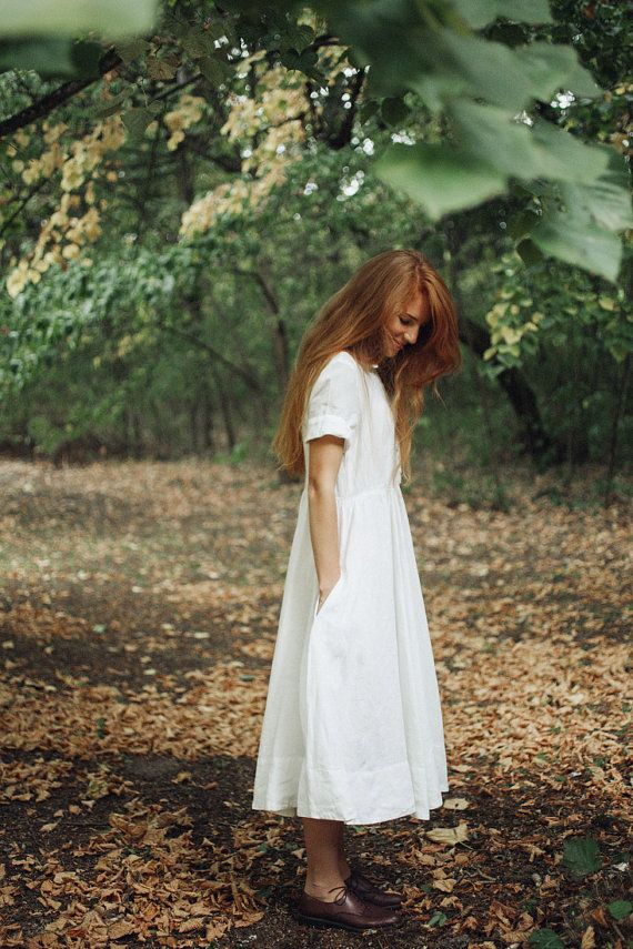 White Linen Dress, White Maxi Dress, Rustic Wedding Dress, Wedding Dress,  Linen White Dress, Linen Maxi Dress, Classic Short Sleeves Dress