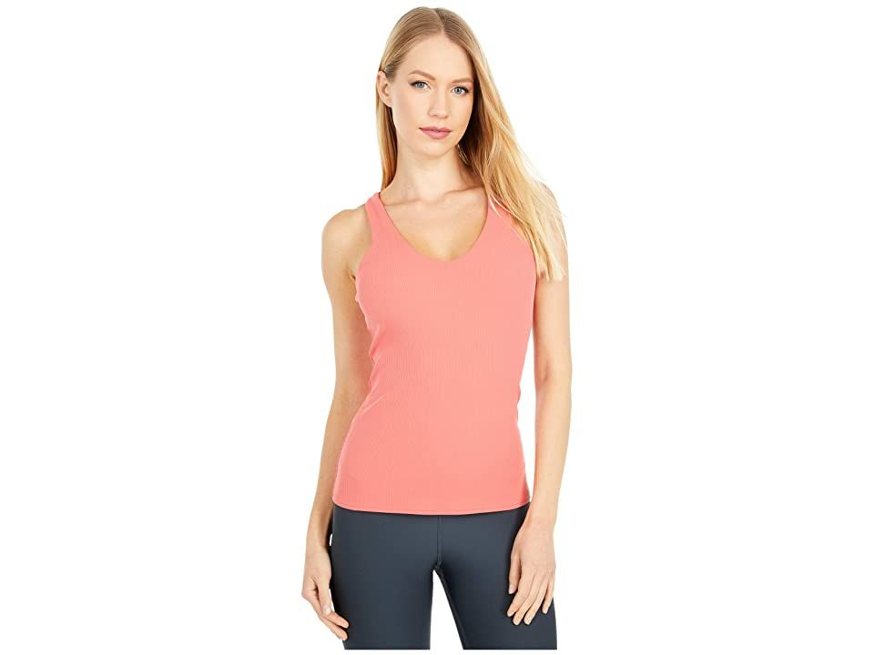 ALO Elevate Tank Top - Women's Clothing : Strawberry : Ditch the sleeves and show off those gains in the athletic and performance-ready ALO Yoga Elevate Tank. A high-support tank top crafted from a supersoft and textured four-way stretch that provides freedom of movement and accelerated dry time. Moisture-wicking technology draws perspiration away from the body and towards the surface where it can evaporate. Antimicrobial finish repels odor and inhibits bacterial growth to extend freshness. Scoo