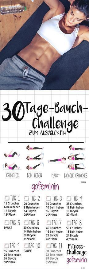 30 Tage Bauch Herausforderung: Tschüss Röllchen, hallo Sixpack!   - Health and fitness - #Bauch #Fit...